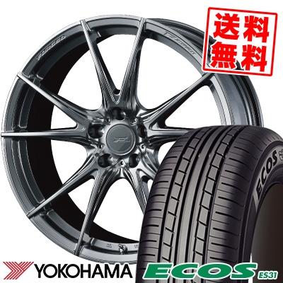 225/45R18 95W XL YOKOHAMA ヨコハマ ECOS ES31 エコス ES31 WEDS F ZERO FZ-2 ウェッズ エフゼロ FZ-2 サマータイヤホイール4本セット