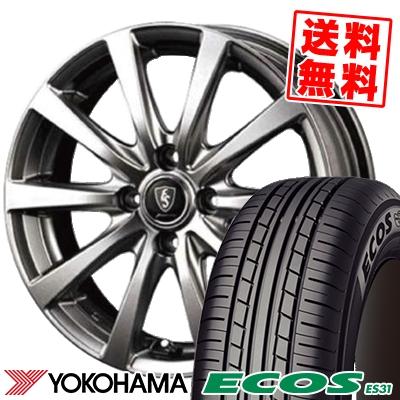 145/65R13 69S YOKOHAMA ヨコハマ ECOS ES31 エコス ES31 Euro Speed G10 ユーロスピード G10 サマータイヤホイール4本セット
