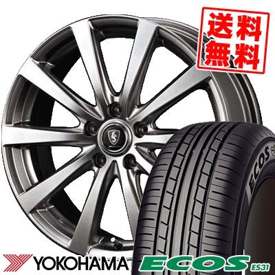 205/55R16 91V YOKOHAMA ヨコハマ ECOS ES31 エコス ES31 Euro Speed G10 ユーロスピード G10 サマータイヤホイール4本セット