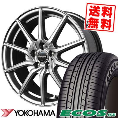 215/45R18 93W XL YOKOHAMA ヨコハマ ECOS ES31 エコス ES31 EuroSpeed G810 ユーロスピード G810 サマータイヤホイール4本セット