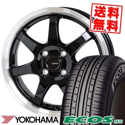 175/55R15 77V YOKOHAMA ヨコハマ ECOS ES31 エコス ES31 G.speed P-03 ジースピード P-03 サマータイヤホイール4本セット