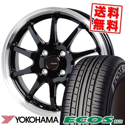 175/65R15 84S YOKOHAMA ヨコハマ ECOS ES31 エコス ES31 G.speed P-04 ジースピード P-04 サマータイヤホイール4本セット