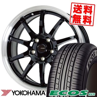 205/60R15 91H YOKOHAMA ヨコハマ ECOS ES31 エコス ES31 G.speed P-04 ジースピード P-04 サマータイヤホイール4本セット