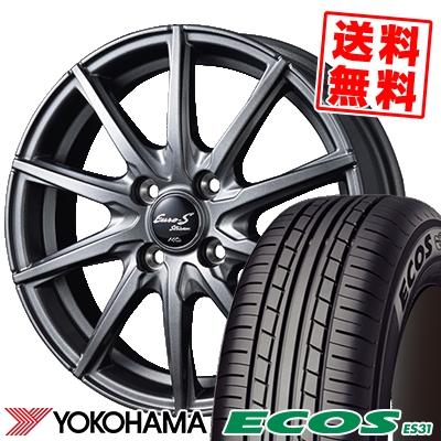 165/65R15 81S YOKOHAMA ヨコハマ ECOS ES31 エコス ES31 EuroStream JL10 ユーロストリーム JL10 サマータイヤホイール4本セット