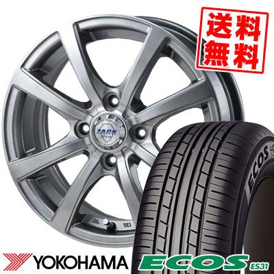 145/65R13 69S YOKOHAMA ヨコハマ ECOS ES31 エコス ES31 ZACK JP-110 ザック JP110 サマータイヤホイール4本セット