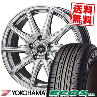 195/60R16 89H YOKOHAMA ヨコハマ ECOS ES31 エコス ES31 ZACK JP-710 ザック ジェイピー710 サマータイヤホイール4本セット