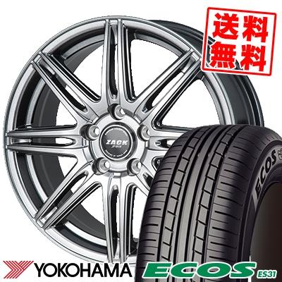 215/65R15 96S YOKOHAMA ヨコハマ ECOS ES31 エコス ES31 ZACK JP-818 ザック ジェイピー818 サマータイヤホイール4本セット
