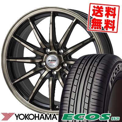 215/55R17 94V YOKOHAMA ヨコハマ ECOS ES31 エコス ES31 JP STYLE Vercely JPスタイル バークレー サマータイヤホイール4本セット