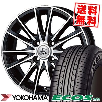 165/50R15 73V YOKOHAMA ヨコハマ ECOS ES31 エコス ES31 Kashina FV7 カシーナ FV7 サマータイヤホイール4本セット