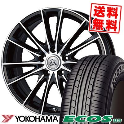 215/55R17 94V YOKOHAMA ヨコハマ ECOS ES31 エコス ES31 Kashina FV7 カシーナ FV7 サマータイヤホイール4本セット