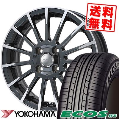 165/60R14 75H YOKOHAMA ヨコハマ ECOS ES31 エコス ES31 Leyseen F-XV レイシーン FX-V サマータイヤホイール4本セット