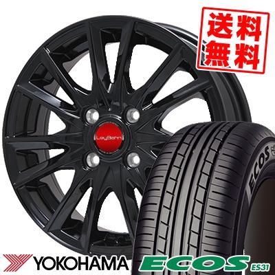185/65R15 88S YOKOHAMA ヨコハマ ECOS ES31 エコス ES31 LeyBahn GBX レイバーン GBX サマータイヤホイール4本セット