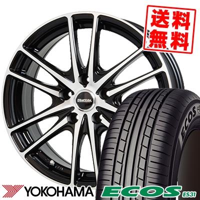 215/60R16 95H YOKOHAMA ヨコハマ ECOS ES31 エコス ES31 Laffite LW-03 ラフィット LW-03 サマータイヤホイール4本セット