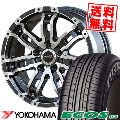 215/55R16 93V YOKOHAMA ヨコハマ ECOS ES31 エコス ES31 B-MUD Z Bマッド ゼット サマータイヤホイール4本セット