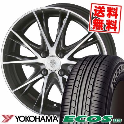 195/55R16 87V YOKOHAMA ヨコハマ ECOS ES31 エコス ES31 STEINER NEX TX5 シュタイナー ネックスシリーズ TX5 サマータイヤホイール4本セット