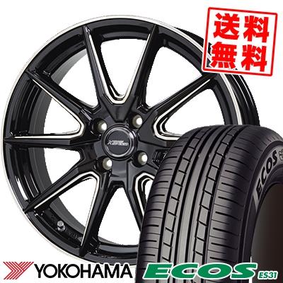 165/55R14 72V YOKOHAMA ヨコハマ ECOS ES31 エコス ES31 CROSS SPEED PREMIUM RS10 クロススピード プレミアム RS10 サマータイヤホイール4本セット