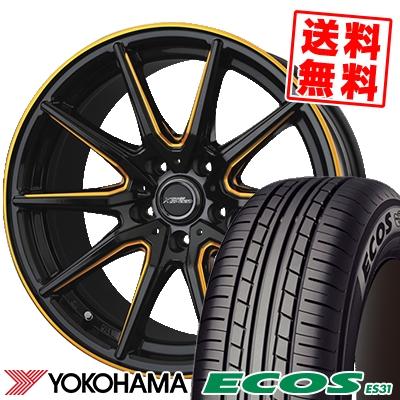 215/50R17 91V YOKOHAMA ヨコハマ ECOS ES31 エコス ES31 CROSS SPEED PREMIUM RS10 クロススピード プレミアム RS10 サマータイヤホイール4本セット