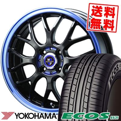 185/55R16 83V YOKOHAMA ヨコハマ ECOS ES31 エコス ES31 EXPLODE RBM エクスプラウド RBM サマータイヤホイール4本セット