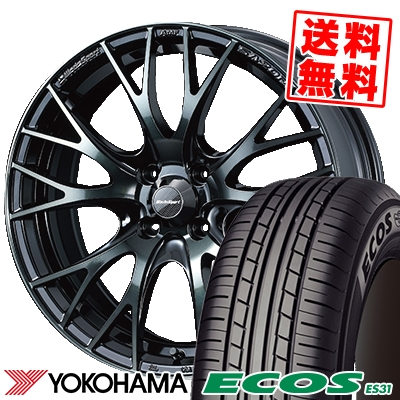 185/65R15 88S YOKOHAMA ヨコハマ ECOS ES31 エコス ES31 WedsSport SA-20R ウェッズスポーツ SA20R サマータイヤホイール4本セット