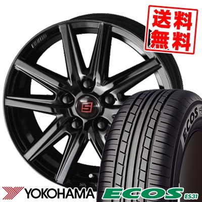 225/45R18 95W XL YOKOHAMA ヨコハマ ECOS ES31 エコス ES31 SEIN SS BLACK EDITION ザイン エスエス ブラックエディション サマータイヤホイール4本セット
