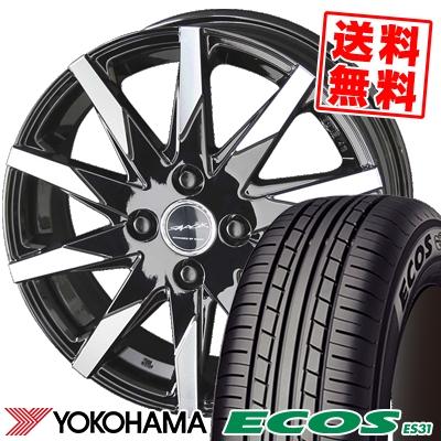 165/60R14 75H YOKOHAMA ヨコハマ ECOS ES31 エコス ES31 SMACK SFIDA スマック スフィーダ サマータイヤホイール4本セット