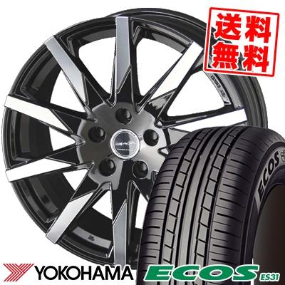 205/50R17 89V YOKOHAMA ヨコハマ ECOS ES31 エコス ES31 SMACK SFIDA スマック スフィーダ サマータイヤホイール4本セット