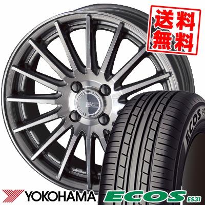 185/55R15 82V YOKOHAMA ヨコハマ ECOS ES31 エコス ES31 STEINER FORCED SERIES SF-X シュタイナー フォースドシリーズ SF-X サマータイヤホイール4本セット