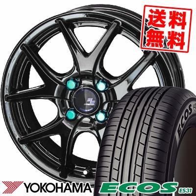 185/65R15 88S YOKOHAMA ヨコハマ ECOS ES31 エコス ES31 STEINER S-LINE SL5 シュタイナー エスライン SL5 サマータイヤホイール4本セット