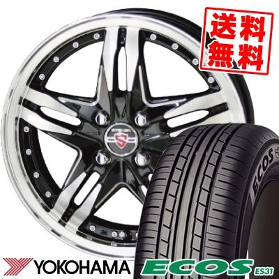 165/50R15 73V YOKOHAMA ヨコハマ ECOS ES31 エコス ES31 STEINER LSV シュタイナー LSV サマータイヤホイール4本セット