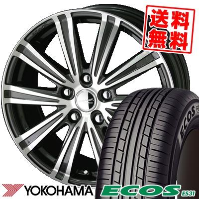 215/65R15 96S YOKOHAMA ヨコハマ ECOS ES31 エコス ES31 SMACK SPARROW スマック スパロー サマータイヤホイール4本セット