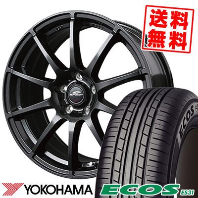 195/65R15 91S YOKOHAMA ヨコハマ ECOS ES31 エコス ES31 SCHNEDER StaG シュナイダー スタッグ サマータイヤホイール4本セット