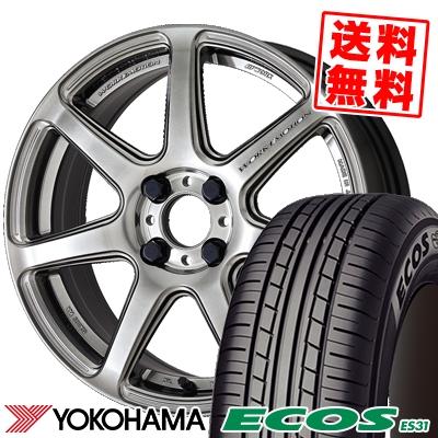 15インチ YOKOHAMA ヨコハマ ECOS ES31 エコス 175 60 15 流行のアイテム セール特別価格 175-60-15 ワーク サマーホイールセット T7R WORK EMOTION 81H エモーション 取付対象 サマータイヤホイール4本セット 60R15