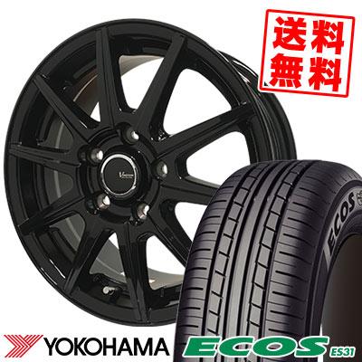 225/45R18 95W XL YOKOHAMA ヨコハマ ECOS ES31 エコス ES31 V-EMOTION BR10 Vエモーション BR10 サマータイヤホイール4本セット