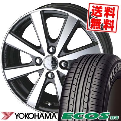 195/55R15 85V YOKOHAMA ヨコハマ ECOS ES31 エコス ES31 SMACK VIR スマック VI-R サマータイヤホイール4本セット