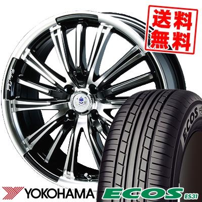 165/55R15 75V YOKOHAMA ヨコハマ ECOS ES31 エコス ES31 BAHNS TECK VR-01 バーンズテック VR01 サマータイヤホイール4本セット
