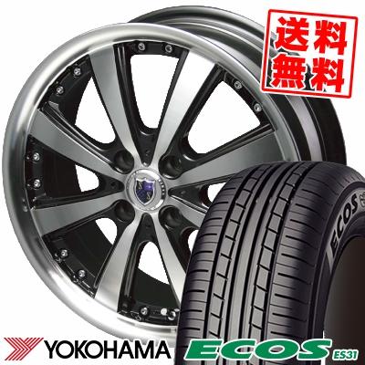 売買 15インチ YOKOHAMA ヨコハマ ECOS ES31 エコス 授与 195 55 15 195-55-15 サマータイヤホイール4本セット 85V 取付対象 VS5 VS-5 55R15 シュタイナー サマーホイールセット STEINER