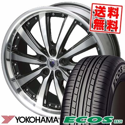 215/55R17 94V YOKOHAMA ヨコハマ ECOS ES31 エコス ES31 STEINER VS-5 シュタイナー VS5 サマータイヤホイール4本セット