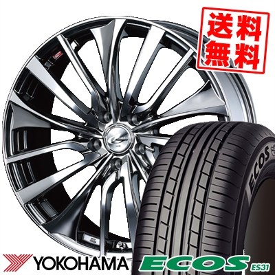 215/55R17 94V YOKOHAMA ヨコハマ ECOS ES31 エコス ES31 weds LEONIS VT ウエッズ レオニス VT サマータイヤホイール4本セット
