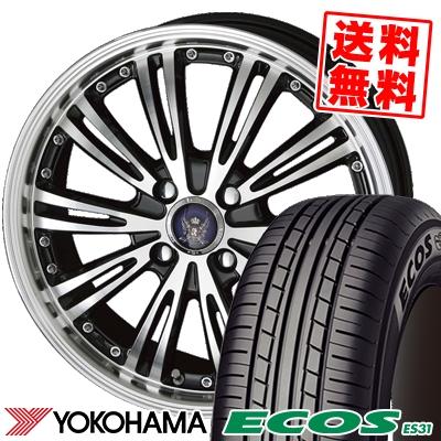 185/60R16 86H YOKOHAMA ヨコハマ ECOS ES31 エコス ES31 STEINER WX5 シュタイナー WX5 サマータイヤホイール4本セット