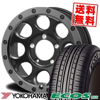 215/55R16 93V YOKOHAMA ヨコハマ ECOS ES31 エコス ES31 XTREME-J XJ03 エクストリームJ XJ-03 サマータイヤホイール4本セット