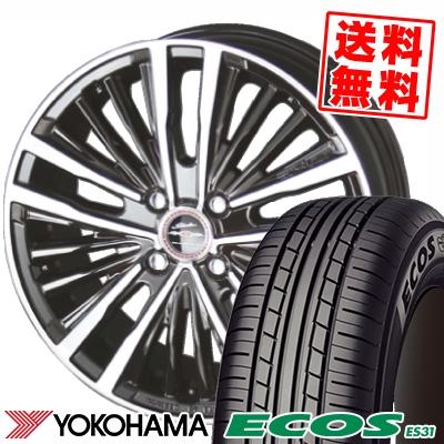 165/50R15 73V YOKOHAMA ヨコハマ ECOS ES31 エコス ES31 SHALLEN XR-75 MONOBLOCK シャレン XR75 モノブロック サマータイヤホイール4本セット