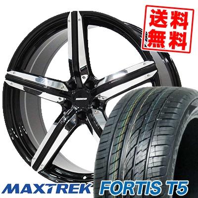 255/45R20 105W XL MAXTREK マックストレック FORTIS T5 フォルティス ティーファイブ ESTATUS Style-CTR エステイタス スタイルCTR サマータイヤホイール4本セット