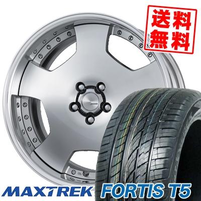 245/35R20 95Y XL MAXTREK マックストレック FORTIS T5 フォルティス ティーファイブ WORK LANVEC LD1 ワーク ランベック エルディーワン サマータイヤホイール4本セット