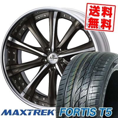 265/40R22 106V XL MAXTREK マックストレック FORTIS T5 フォルティス ティーファイブ weds Kranze Maricive ウェッズ クレンツェ マリシーブ サマータイヤホイール4本セット