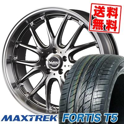255/45R20 105W XL MAXTREK マックストレック FORTIS T5 フォルティス ティーファイブ VOLTEC HYPER MS SPECIAL ボルテック ハイパーMS スペシャル サマータイヤホイール4本セット