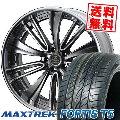 265/40R22 106V XL MAXTREK マックストレック FORTIS T5 フォルティス ティーファイブ weds Kranze Vorteil ウェッズ クレンツェ ヴォルテイル サマータイヤホイール4本セット