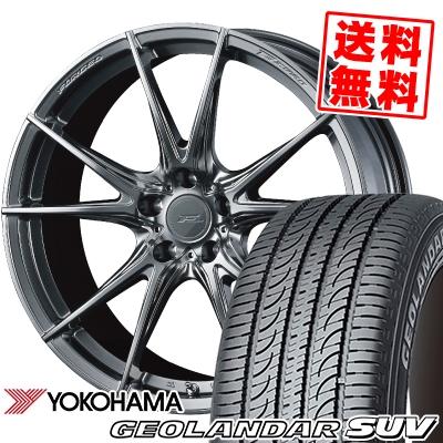 215/55R18 99V YOKOHAMA ヨコハマ GEOLANDAR SUV G055 ジオランダーSUV G055 WEDS F ZERO FZ-2 ウェッズ エフゼロ FZ-2 サマータイヤホイール4本セット