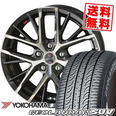 215/70R16 100H YOKOHAMA ヨコハマ GEOLANDAR SUV G055 ジオランダーSUV G055 SMACK REVILA スマック レヴィラ サマータイヤホイール4本セット