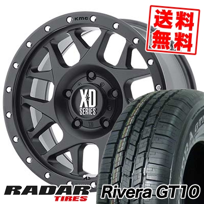 265/70R16 111S RADAR レーダー Rivera GT10 リベラ ジーティーテン KMC XD127 BULLY KMC XD127 ブリー サマータイヤホイール4本セット【取付対象】