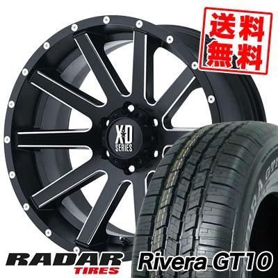265/70R16 111S RADAR レーダー Rivera GT10 リベラ ジーティーテン KMC XD818 Heist KMC XD818 ヘイスト サマータイヤホイール4本セット for 200系ハイエース【取付対象】